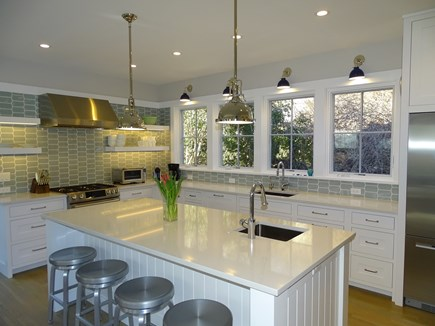 Provincetown,  East End Cape Cod vacation rental - Sunny kitchen w/ breakfast bar, two sinks, high end appliances