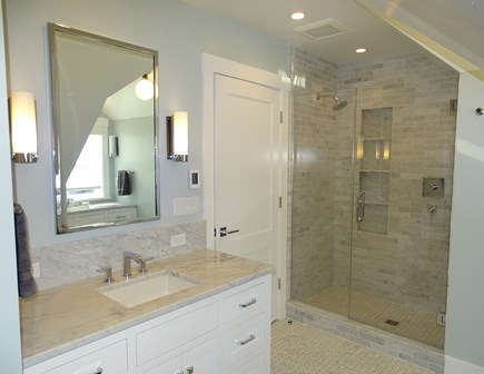 Provincetown,  East End Cape Cod vacation rental - Master bath enclosed walk in shower