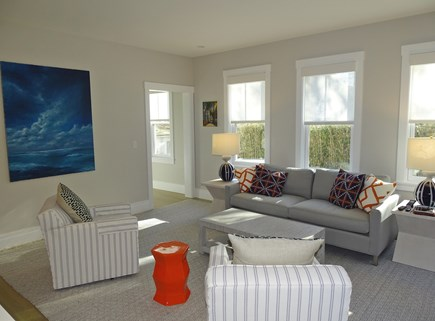 Provincetown,  East End Cape Cod vacation rental - Bright , spacious vaulted living room