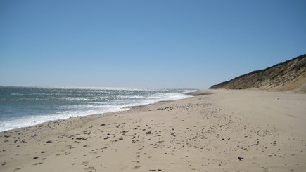 Eastham Cape Cod vacation rental - An early summer morning at Nauset Light Beach.