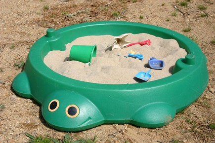 Eastham Cape Cod vacation rental - Turtle sandbox for the little ones to play.