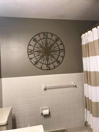 West Yarmouth Cape Cod vacation rental - Guest bathroom includes tub