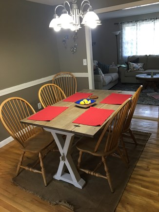 West Yarmouth Cape Cod vacation rental - Dining room with living room behind