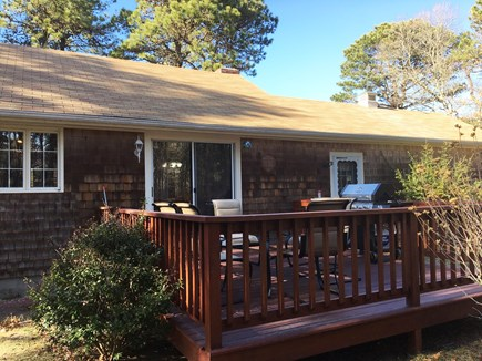 West Yarmouth Cape Cod vacation rental - Back deck with grille and table and chairs