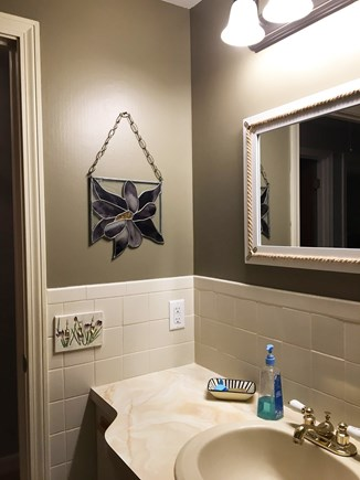 West Yarmouth Cape Cod vacation rental - Guest bathroom looking at door