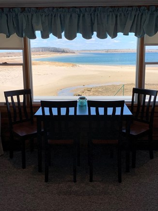 Bourne Cape Cod vacation rental - Picture window in dining area overlooking the ocean