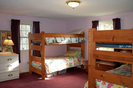 Hyannis Cape Cod vacation rental - 2nd floor BR w/2 sets of bunk beds & 2 captains beds (w/AC unit)