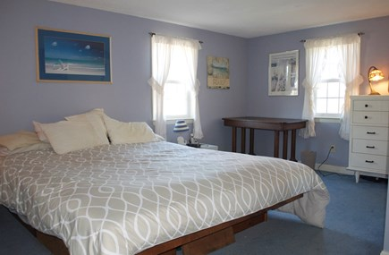 Hyannis Cape Cod vacation rental - Spacious master bedroom with king size bed (w/AC unit)