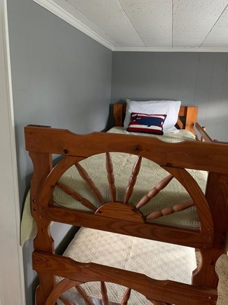 Bourne Cape Cod vacation rental - One of two bunkbeds, 1st floor window AC