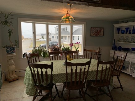 Bourne Cape Cod vacation rental - Kitchen table looking out to bay