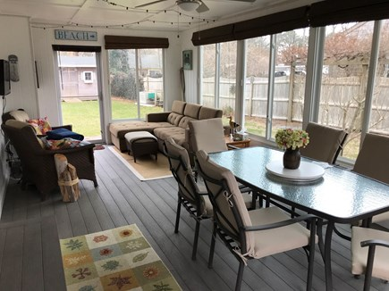 West Yarmouth Cape Cod vacation rental - Attached porch with additional eating & living space!