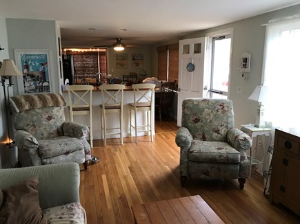 West Yarmouth Cape Cod vacation rental - Living room open to kitchen