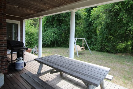 Truro Cape Cod vacation rental - Gas grille and outdoor dining
