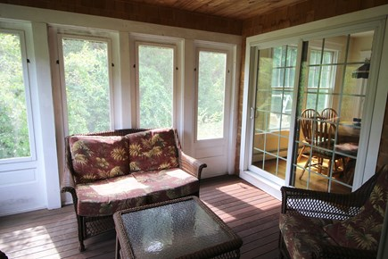 Truro Cape Cod vacation rental - Screen porch accessible from dining/kitchen area