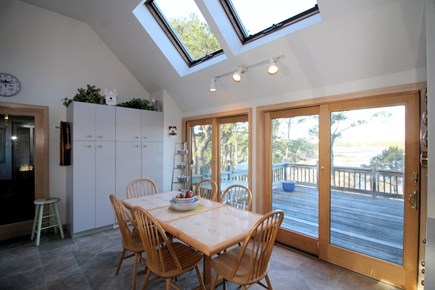 Wellfleet Cape Cod vacation rental - Bright and open kitchen with French doors to deck