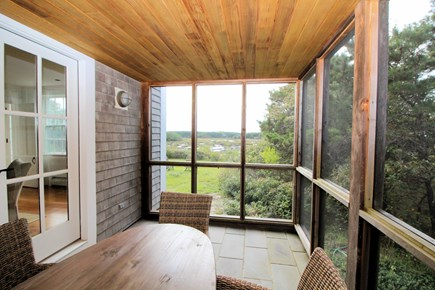 Truro Cape Cod vacation rental - You'll love the screened-in porch with Pamet views