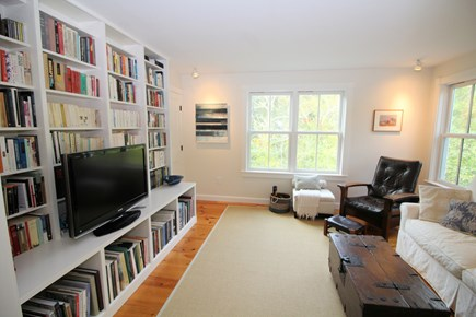 Truro Cape Cod vacation rental - Den with comfortable seating and flat screen TV with cable
