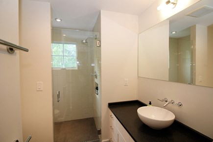 Truro Cape Cod vacation rental - One of three custom tiled bathrooms with showers