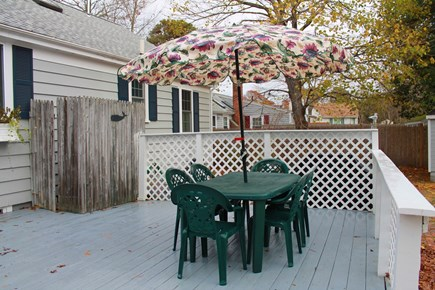 West Yarmouth Cape Cod vacation rental - Spacious back deck with outdoor shower