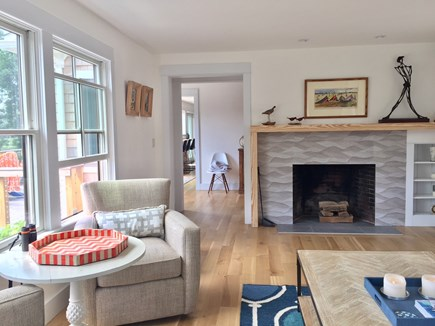 Orleans Cape Cod vacation rental - Sitting Area with fireplace overlooking water