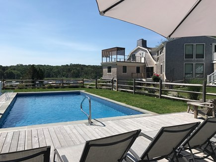 Orleans Cape Cod vacation rental - Pool/Bocce Ball Area overlooking water