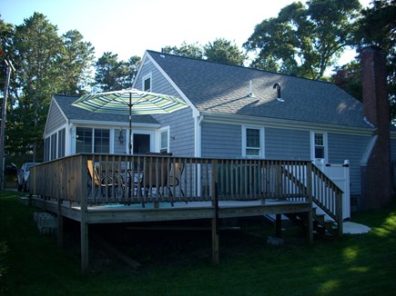 harwich Cape Cod vacation rental - Back of house with outside shower