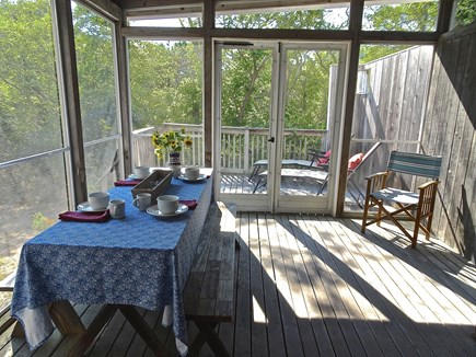 Truro Cape Cod vacation rental - Screen Porch Opens to Deck