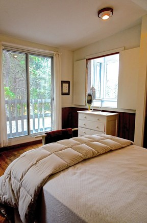 Truro Cape Cod vacation rental - Second Level Bedroom with Sliders to Upper Deck