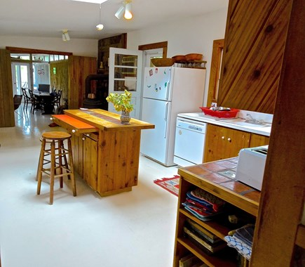 Truro Cape Cod vacation rental - Kitchen has Island with Seating