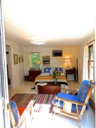 Truro Cape Cod vacation rental - Main Floor Bedroom has double bed, has sliders to yard