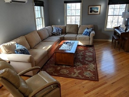 Dennis Cape Cod vacation rental - Living room with Flat screen TV.