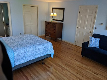 Dennis Cape Cod vacation rental - 1st floor bedroom with queen and Double pullout couch, 1/2 bath