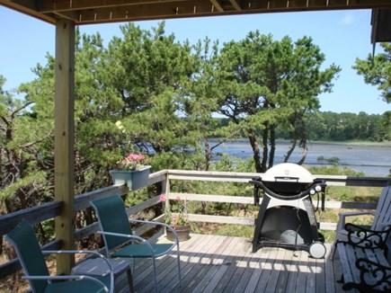 Wellfleet Cape Cod vacation rental - Shady area of wrap around deck