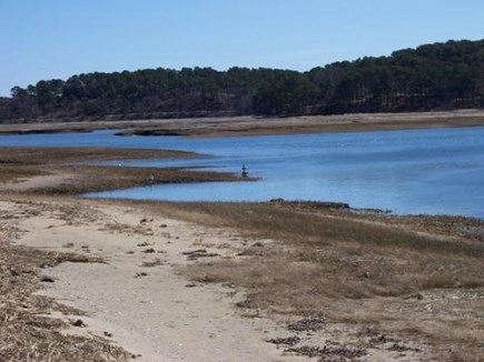 Wellfleet Cape Cod vacation rental - Lower tide in front of home. Beachy area.