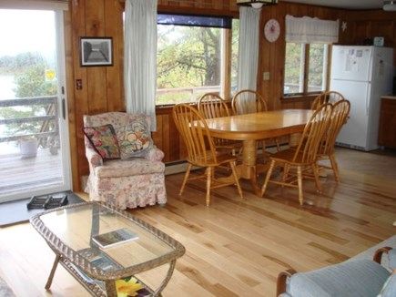Wellfleet Cape Cod vacation rental - Living-Dining-Kitchen all with water views.