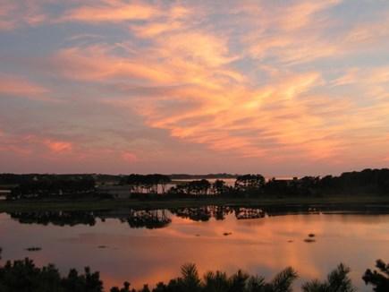 Wellfleet Cape Cod vacation rental - An evening view from deck