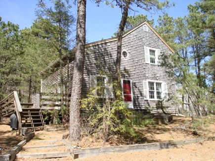 Wellfleet Cape Cod vacation rental - Pulling up to the home cheery Red door to greet you