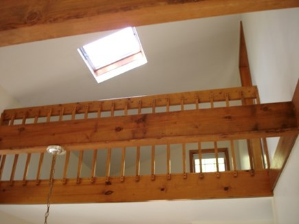 Wellfleet Cape Cod vacation rental - Loft looking up from Dining room