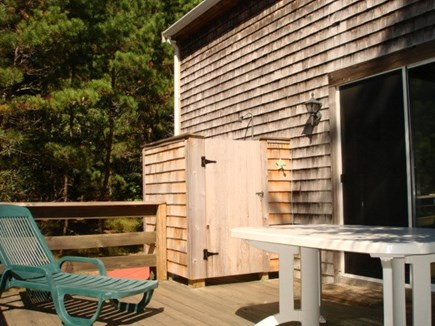 Wellfleet Cape Cod vacation rental - Deck off dining & enclosed out door shower.