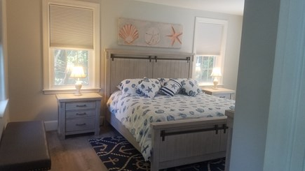 Dennis Village Cape Cod vacation rental - Master Bedroom Suite with full bath. Sitting area with television