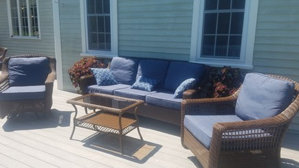 Dennis Village Cape Cod vacation rental - Swivel Rocking Chairs & Couch.