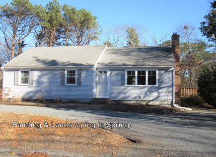 Dennis Cape Cod vacation rental - Front (Note being painted & landscaped in Spring)