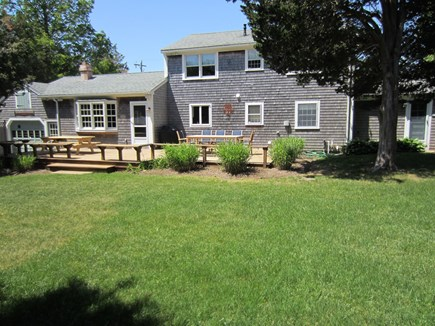 East Dennis Cape Cod vacation rental - Rear view with large deck & yard