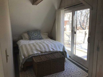 East Falmouth Cape Cod vacation rental - 2nd Floor Queen bedroom with sliders to deck overlooking  water