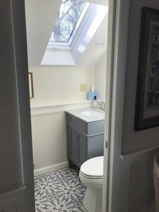 East Falmouth Cape Cod vacation rental - Half bath off living room