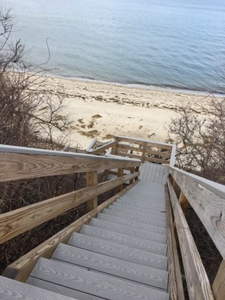 Brewster Cape Cod vacation rental - Private Staircase