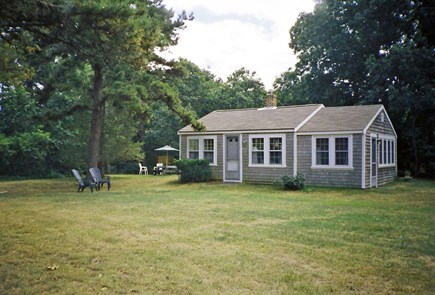 North Eastham Cape Cod vacation rental - View of front of cottage from the front yard.