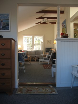 North Eastham Cape Cod vacation rental - View from the sun room to the living room area.