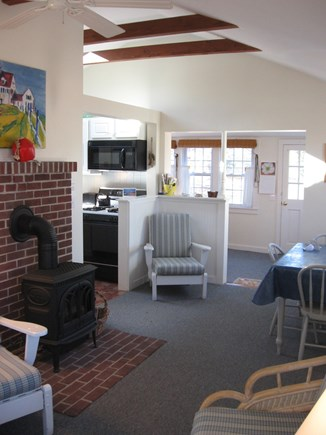North Eastham Cape Cod vacation rental - View from living area toward sun room.