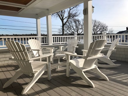 Pocasset Pocasset vacation rental - Partially covered deck overlooking water